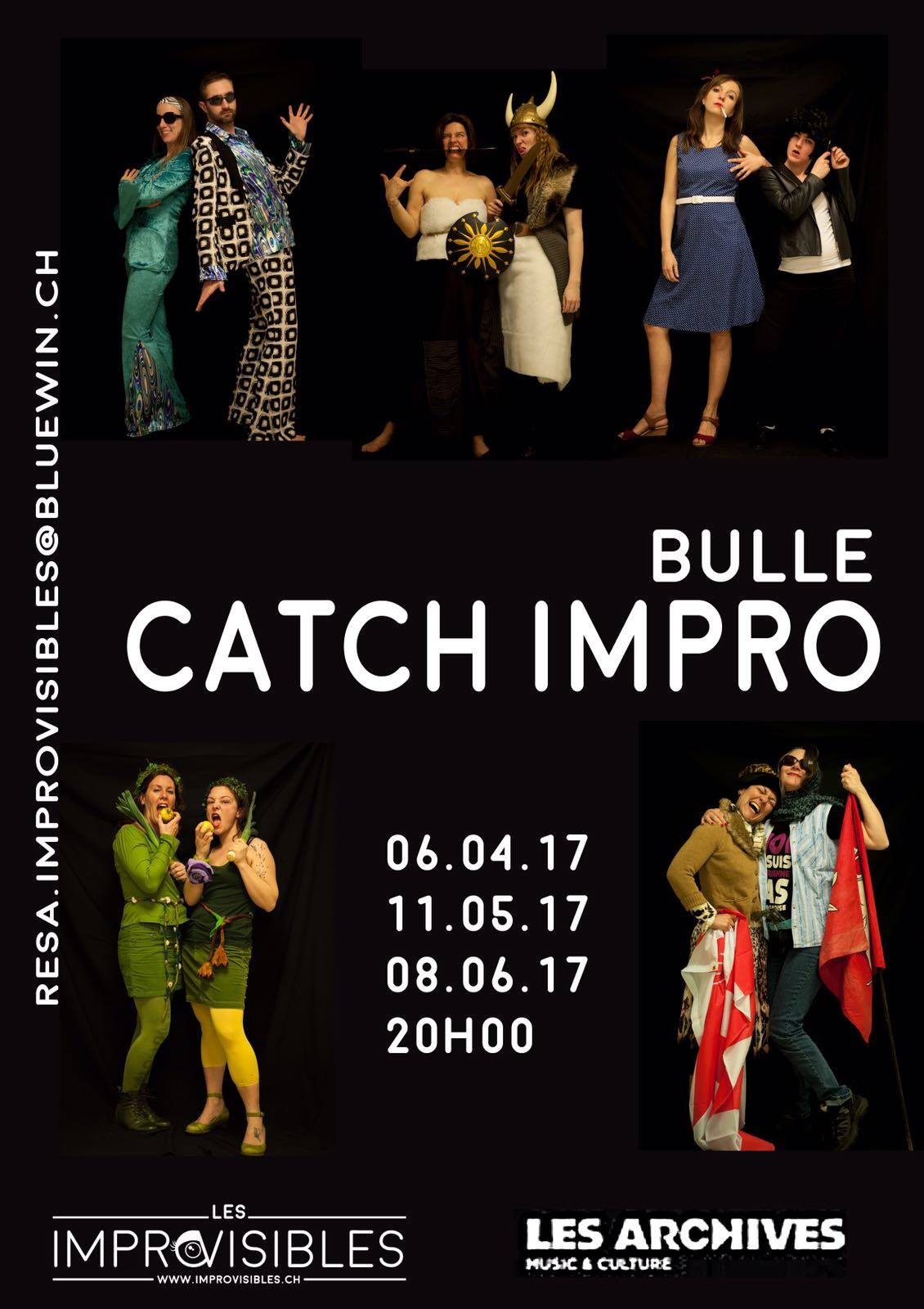 Catch Impro – Demi-finale 1: 06.04.2017