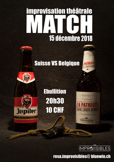 Match Suisse vs Belgique – 15.12.2018