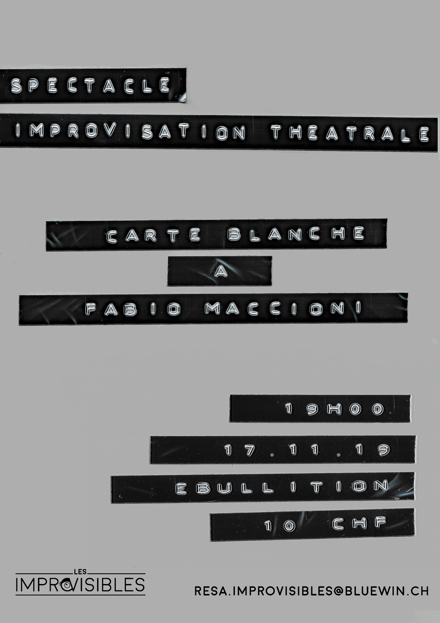 Carte blanche à Fabio Maccioni – 17.11.2019
